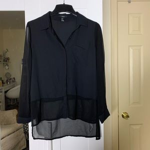 Forever 21 Black Blouse M